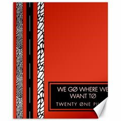 Poster Twenty One Pilots We Go Where We Want To Canvas 11  x 14