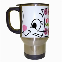 Easter bunny  Travel Mugs (White)