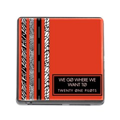 Poster Twenty One Pilots We Go Where We Want To Memory Card Reader (square)