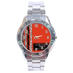 Poster Twenty One Pilots We Go Where We Want To Stainless Steel Analogue Watch