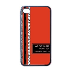 Poster Twenty One Pilots We Go Where We Want To Apple Iphone 4 Case (black)