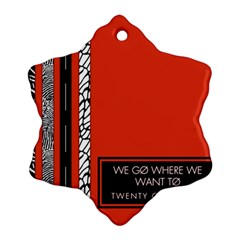 Poster Twenty One Pilots We Go Where We Want To Snowflake Ornament (Two Sides)
