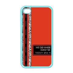 Poster Twenty One Pilots We Go Where We Want To Apple iPhone 4 Case (Color)
