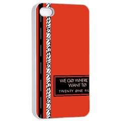 Poster Twenty One Pilots We Go Where We Want To Apple iPhone 4/4s Seamless Case (White)