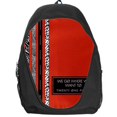 Poster Twenty One Pilots We Go Where We Want To Backpack Bag