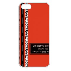 Poster Twenty One Pilots We Go Where We Want To Apple Iphone 5 Seamless Case (white)