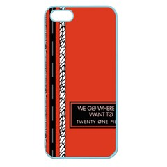 Poster Twenty One Pilots We Go Where We Want To Apple Seamless iPhone 5 Case (Color)