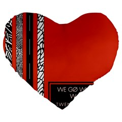 Poster Twenty One Pilots We Go Where We Want To Large 19  Premium Heart Shape Cushions