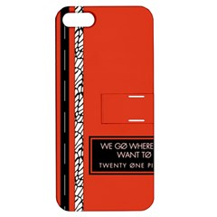 Poster Twenty One Pilots We Go Where We Want To Apple iPhone 5 Hardshell Case with Stand