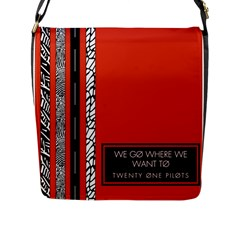 Poster Twenty One Pilots We Go Where We Want To Flap Messenger Bag (L)