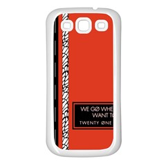Poster Twenty One Pilots We Go Where We Want To Samsung Galaxy S3 Back Case (White)