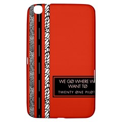 Poster Twenty One Pilots We Go Where We Want To Samsung Galaxy Tab 3 (8 ) T3100 Hardshell Case