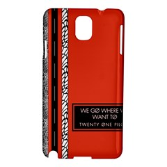 Poster Twenty One Pilots We Go Where We Want To Samsung Galaxy Note 3 N9005 Hardshell Case