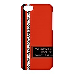 Poster Twenty One Pilots We Go Where We Want To Apple iPhone 5C Hardshell Case