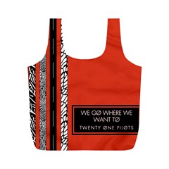 Poster Twenty One Pilots We Go Where We Want To Full Print Recycle Bags (M)