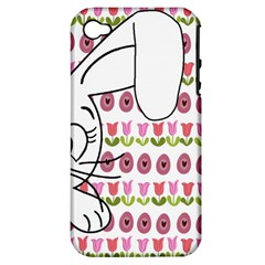 Easter bunny  Apple iPhone 4/4S Hardshell Case (PC+Silicone)