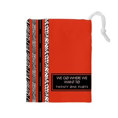 Poster Twenty One Pilots We Go Where We Want To Drawstring Pouches (large)