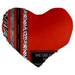 Poster Twenty One Pilots We Go Where We Want To Large 19  Premium Flano Heart Shape Cushions
