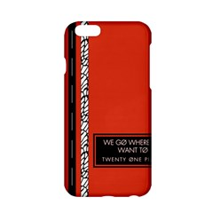 Poster Twenty One Pilots We Go Where We Want To Apple iPhone 6/6S Hardshell Case