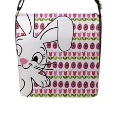 Easter bunny  Flap Messenger Bag (L)