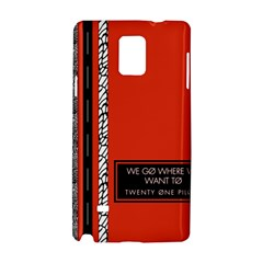 Poster Twenty One Pilots We Go Where We Want To Samsung Galaxy Note 4 Hardshell Case