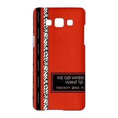 Poster Twenty One Pilots We Go Where We Want To Samsung Galaxy A5 Hardshell Case