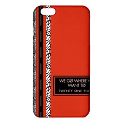 Poster Twenty One Pilots We Go Where We Want To iPhone 6 Plus/6S Plus TPU Case