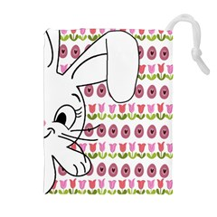 Easter bunny  Drawstring Pouches (Extra Large)