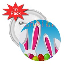 Easter bunny  2.25  Buttons (10 pack)