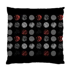 Digital Art Dark Pattern Abstract Orange Black White Twenty One Pilots Standard Cushion Case (two Sides)
