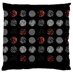 Digital Art Dark Pattern Abstract Orange Black White Twenty One Pilots Large Cushion Case (One Side)