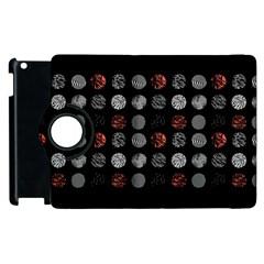 Digital Art Dark Pattern Abstract Orange Black White Twenty One Pilots Apple iPad 3/4 Flip 360 Case