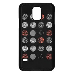Digital Art Dark Pattern Abstract Orange Black White Twenty One Pilots Samsung Galaxy S5 Case (Black)