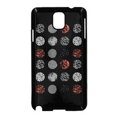 Digital Art Dark Pattern Abstract Orange Black White Twenty One Pilots Samsung Galaxy Note 3 Neo Hardshell Case (black)