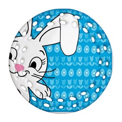 Easter bunny  Round Filigree Ornament (Two Sides)