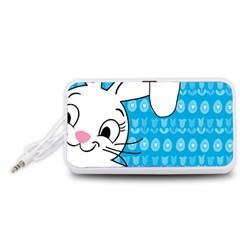 Easter bunny  Portable Speaker (White)
