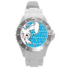 Easter bunny  Round Plastic Sport Watch (L)