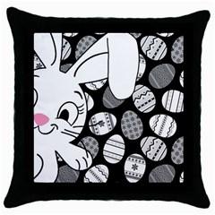 Easter bunny  Throw Pillow Case (Black)