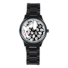 Easter bunny  Stainless Steel Round Watch