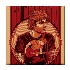 Ed Sheeran Illustrated Tour Poster Tile Coasters