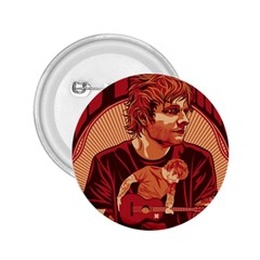 Ed Sheeran Illustrated Tour Poster 2 25  Buttons