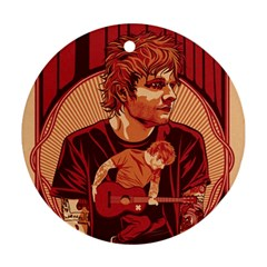 Ed Sheeran Illustrated Tour Poster Ornament (Round)