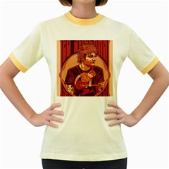 Ed Sheeran Illustrated Tour Poster Women s Fitted Ringer T-Shirts