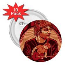 Ed Sheeran Illustrated Tour Poster 2.25  Buttons (10 pack)