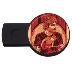 Ed Sheeran Illustrated Tour Poster USB Flash Drive Round (2 GB)