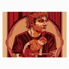 Ed Sheeran Illustrated Tour Poster Large Glasses Cloth (2-Side)