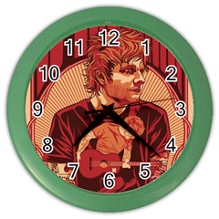 Ed Sheeran Illustrated Tour Poster Color Wall Clocks