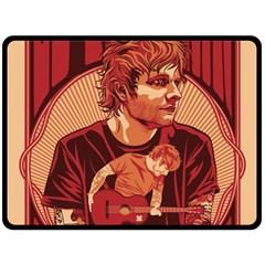 Ed Sheeran Illustrated Tour Poster Fleece Blanket (Large)