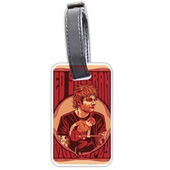 Ed Sheeran Illustrated Tour Poster Luggage Tags (One Side)