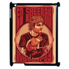 Ed Sheeran Illustrated Tour Poster Apple iPad 2 Case (Black)